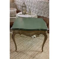 End Table - Green Top Cream Leg