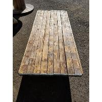 Table - Barn Wood Wine Barrel Top