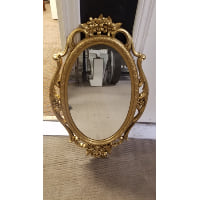 Mirror - Gold Oval Decorative
