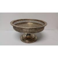 Pedestal - Silver Slit Edge Cake Plate