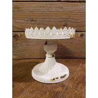 Pedestal - White Elizabeth Shabby