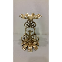 Candle Holder - Pillar Gold Roman