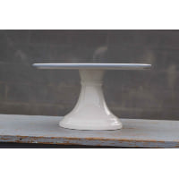 Pedestal - Milk Glass Blue Edge