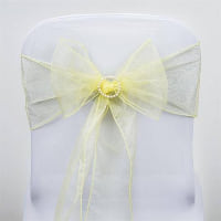 Chair Tie - Pale yellow sheer