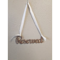 Sign - Reserved Gold script hanging