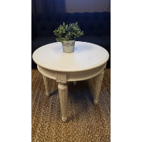Side Table - White Round