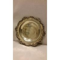 Tray - Silver Round Mini Ornate Edge