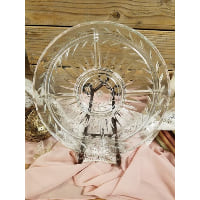 Plate - Clear Glass Laurel Wreath 4 Sectioned