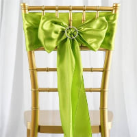 Chair Tie  - Green sage satin