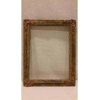 Frame - Small Gold Detailed Corner Empty