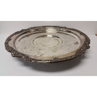 Tray - Silver Large Lazy Susan