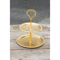 Pedestal - Two Tier Gold Candace w/Handle