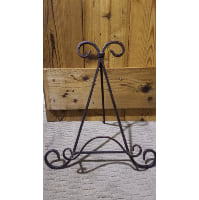 Easel - Brown Black Swirl Tabletop
