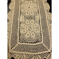 Runner - Beige Crocheted