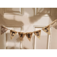 Sign - Card Burlap Triangle Bunting