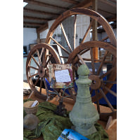 Wagon Wheel - large wood