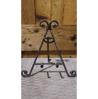 Easel - Hook Stand Black Silver Swirl Tabletop