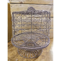 Pedestal - Wire with Wire Cloche