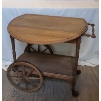 Table - Brown Tea Cart