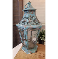 Lantern - Blue Six Sided