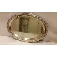 Tray - Silver Oval Fan Edge Small