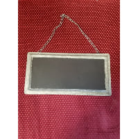 Chalkboard - metal edge metal chain