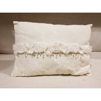 Pillow - Linen with rosette bead accents
