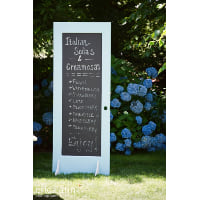 Chalkboard - Door Blue