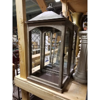 Lantern - XL wood edge, metal top rectangle