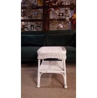 End Table - Rattan White