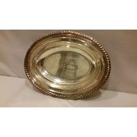 Tray - Silver Twist Edge Oval Bowl