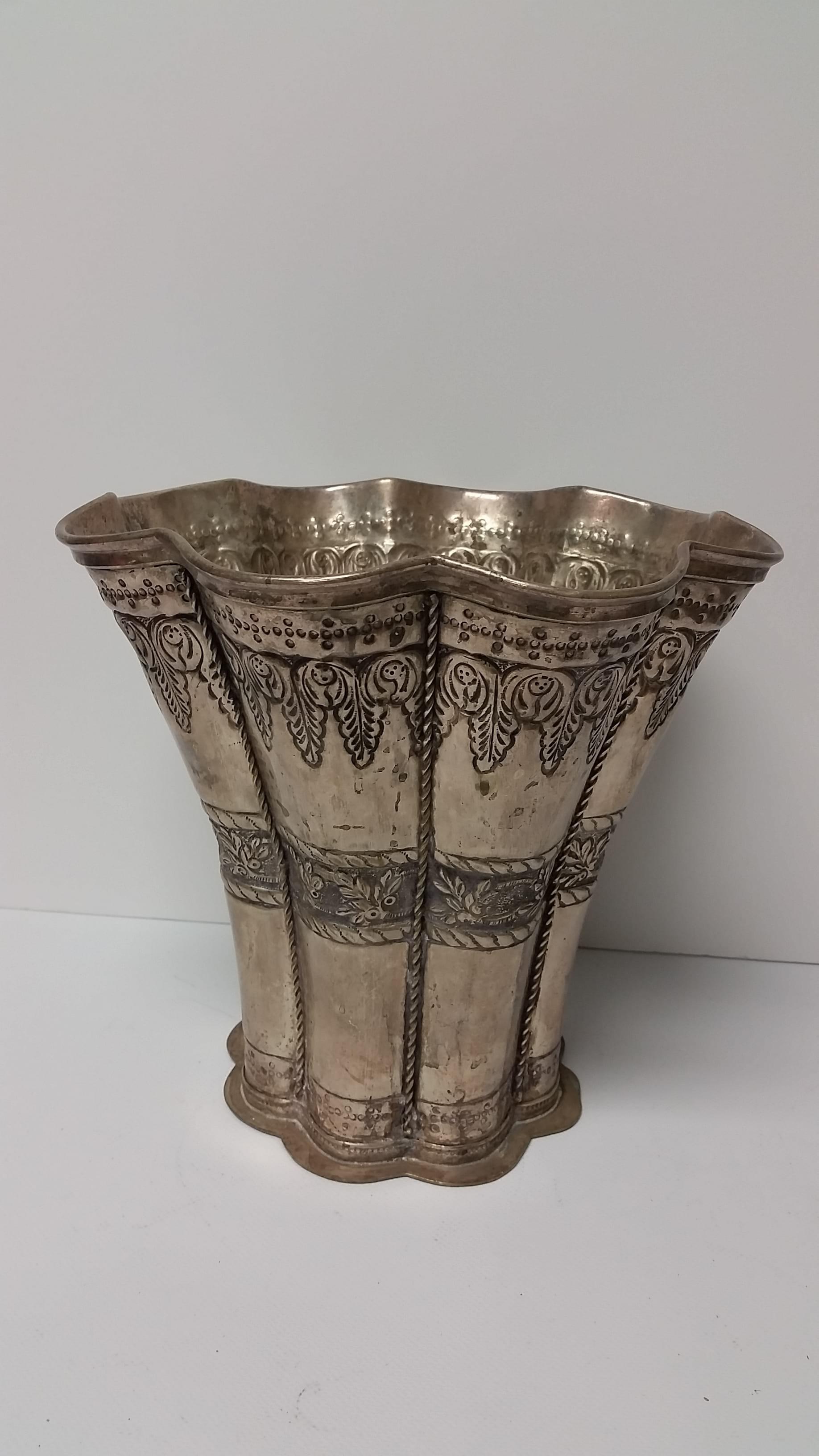 Vase - Silver XL Floral Taper