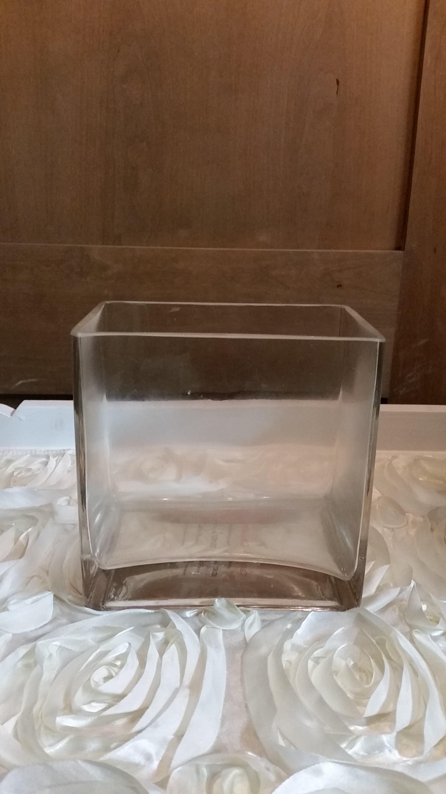 """Vase - Rectangle 6""""x6""""x4"""""""