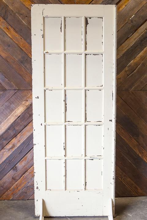 Door - White Painted 15 Pane