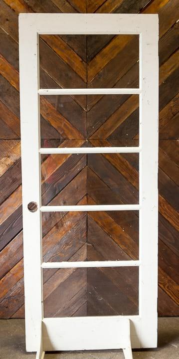 Door - White 5 Window (no knob)