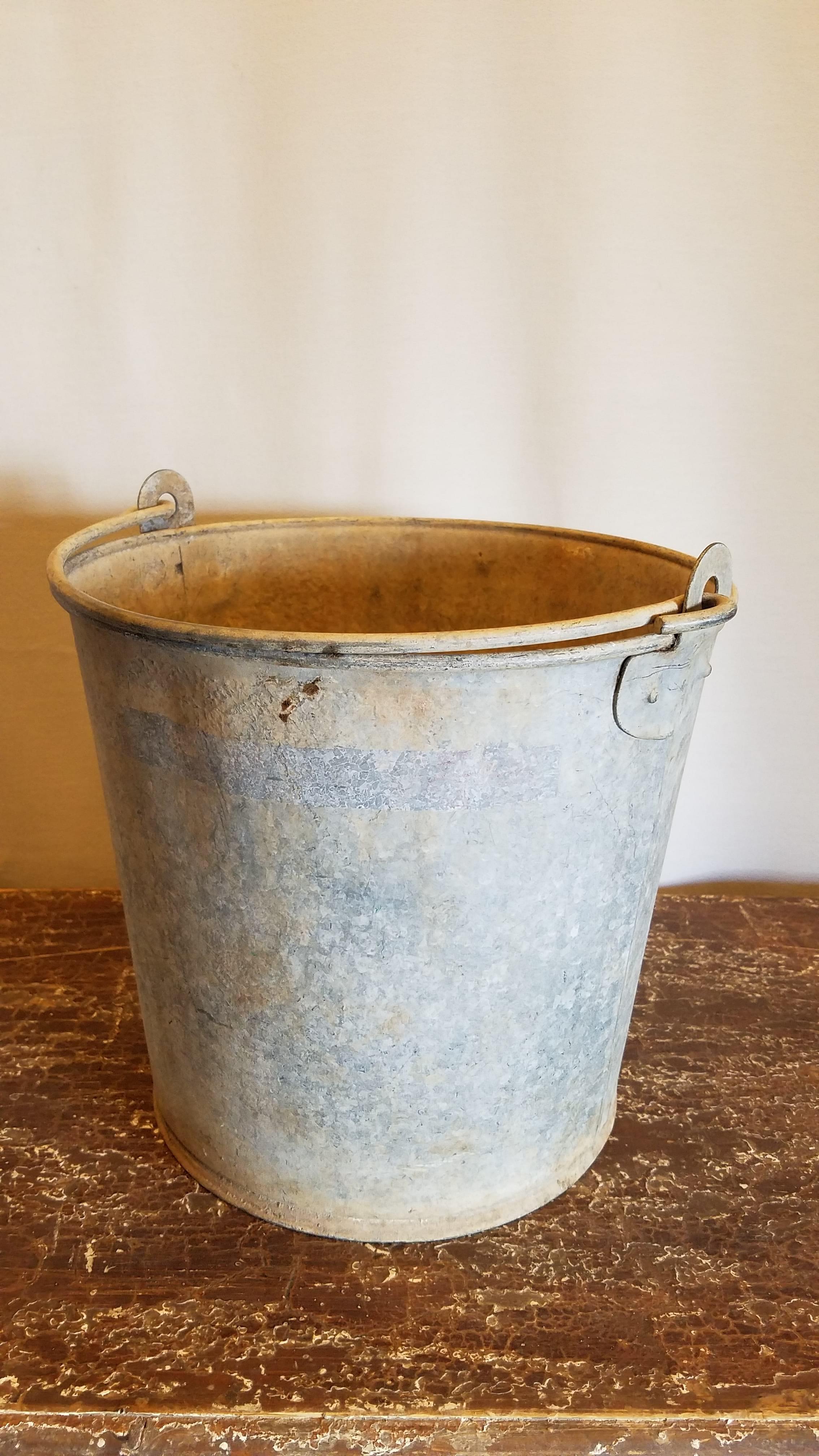 Bucket -  Old Galvanized w/ Handle