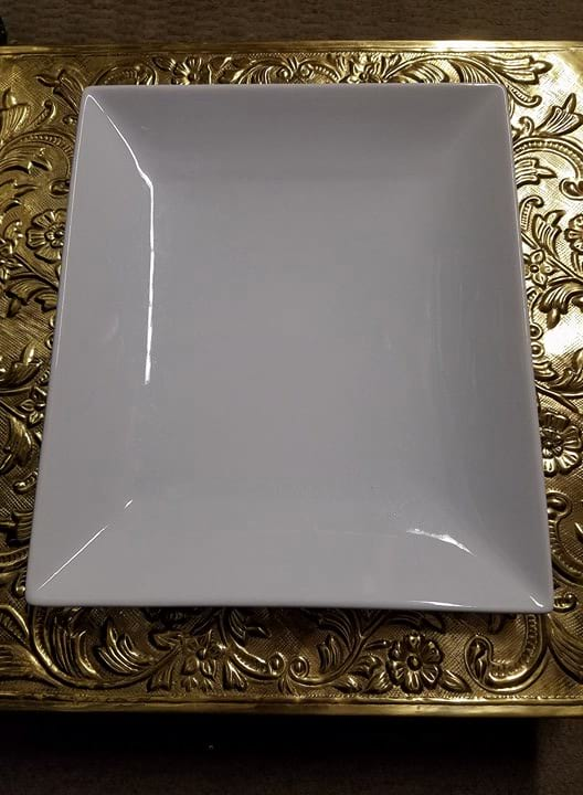 Platter - White Rectangle S