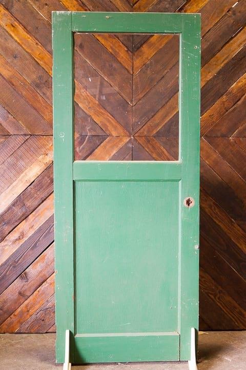 Door - Green Half Top Glass