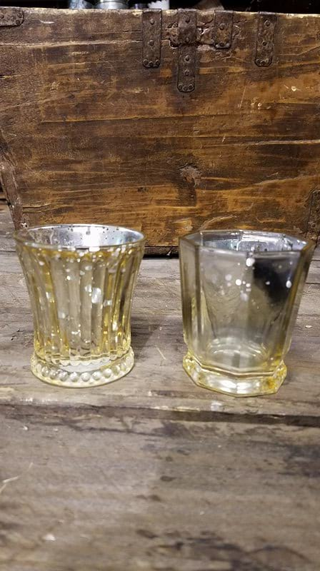 Votive - Assorted Gold Mercury Glass