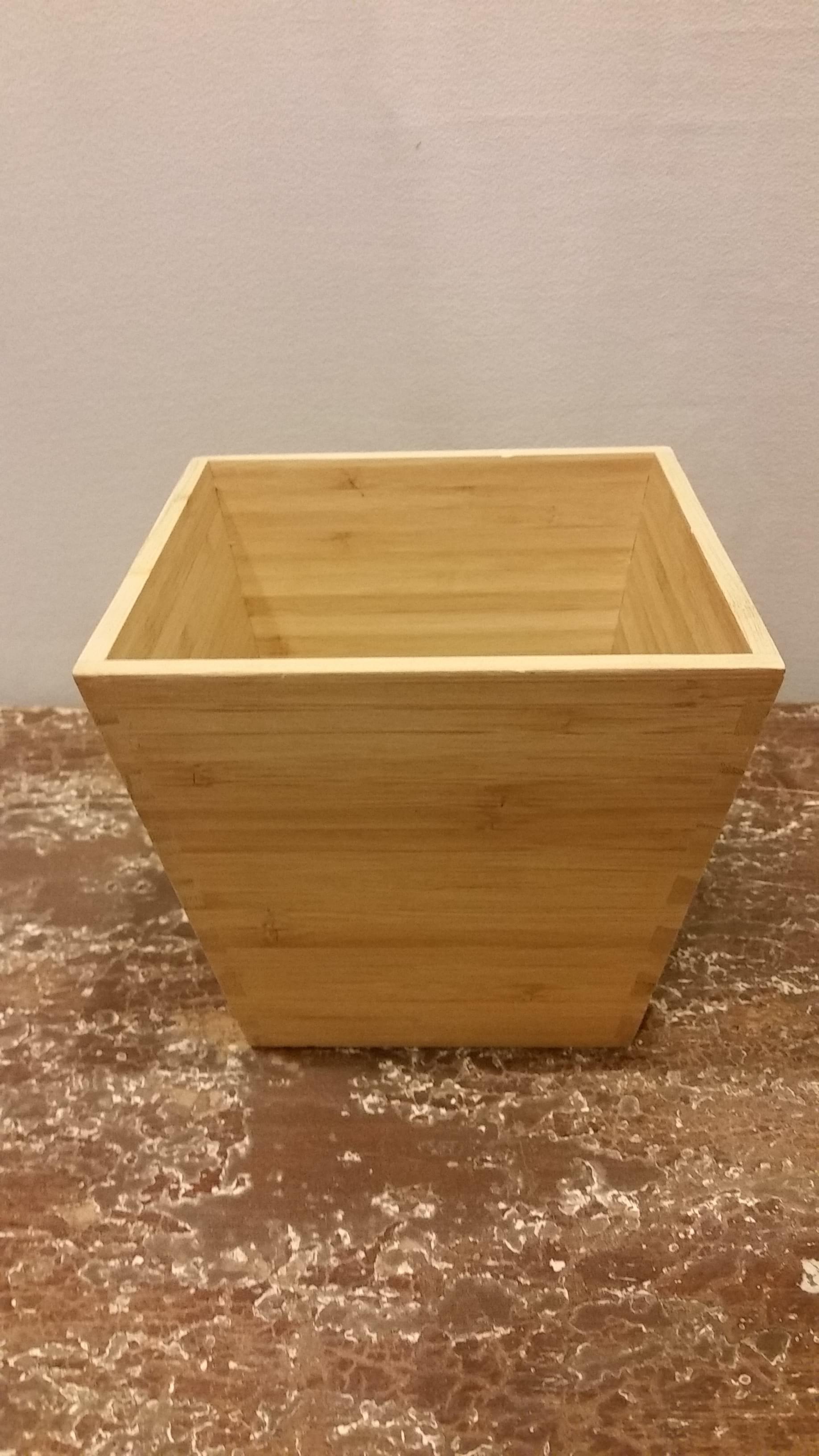 Bucket - Wood Square Plant Box