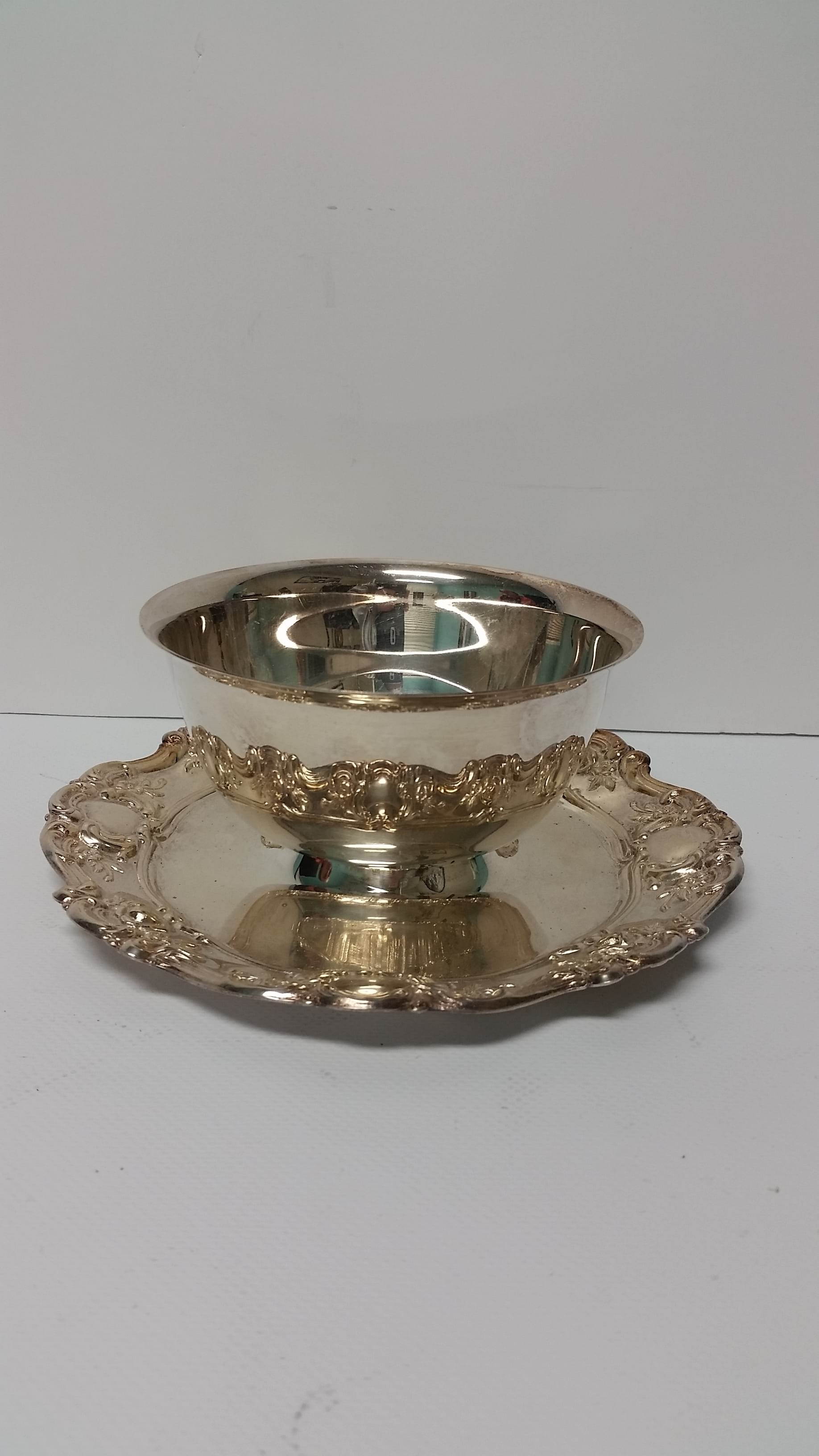 Silver - Candy Bowl w/Saucer Base