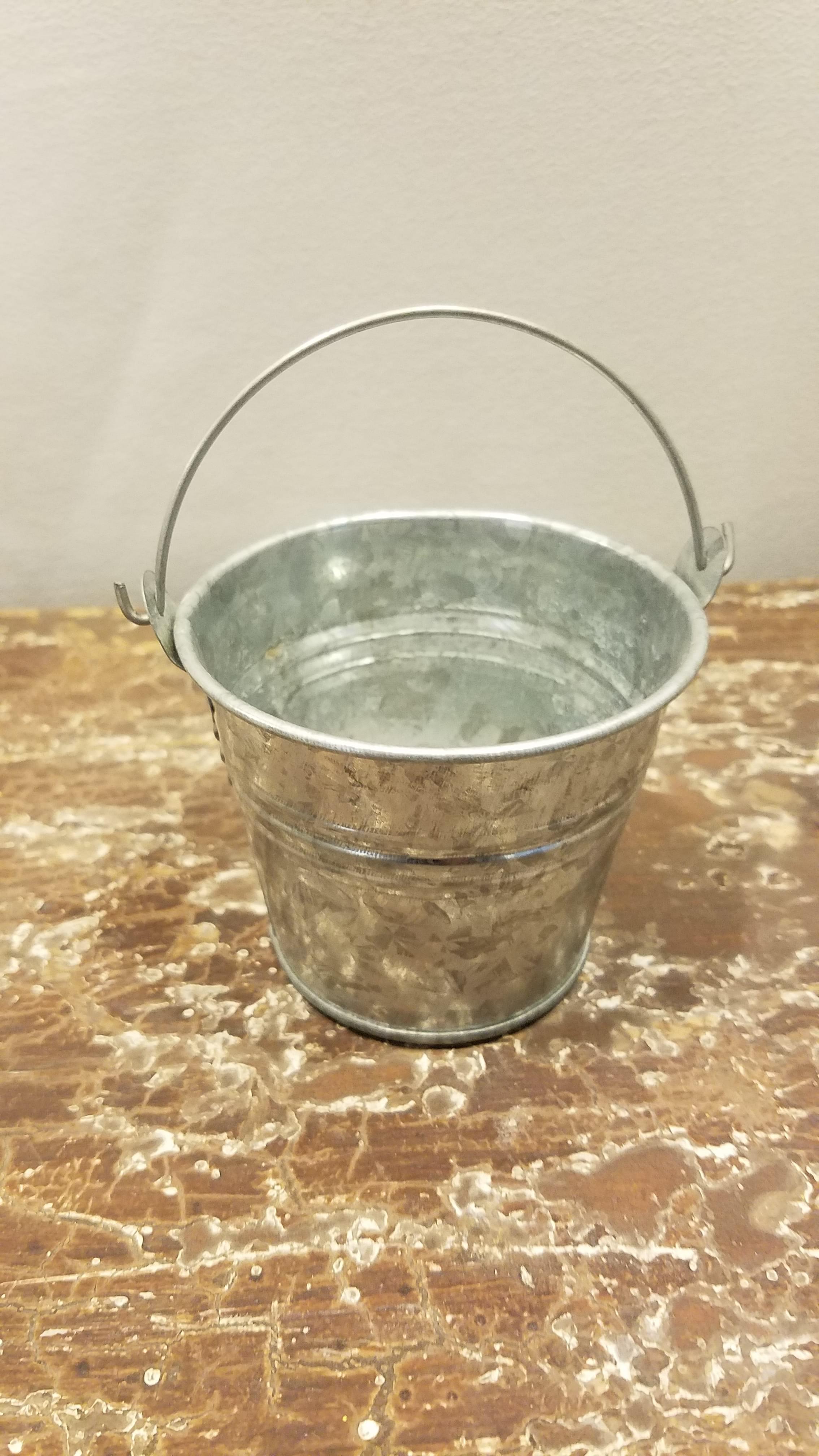 Bucket - Mini Galvanized w/Handle