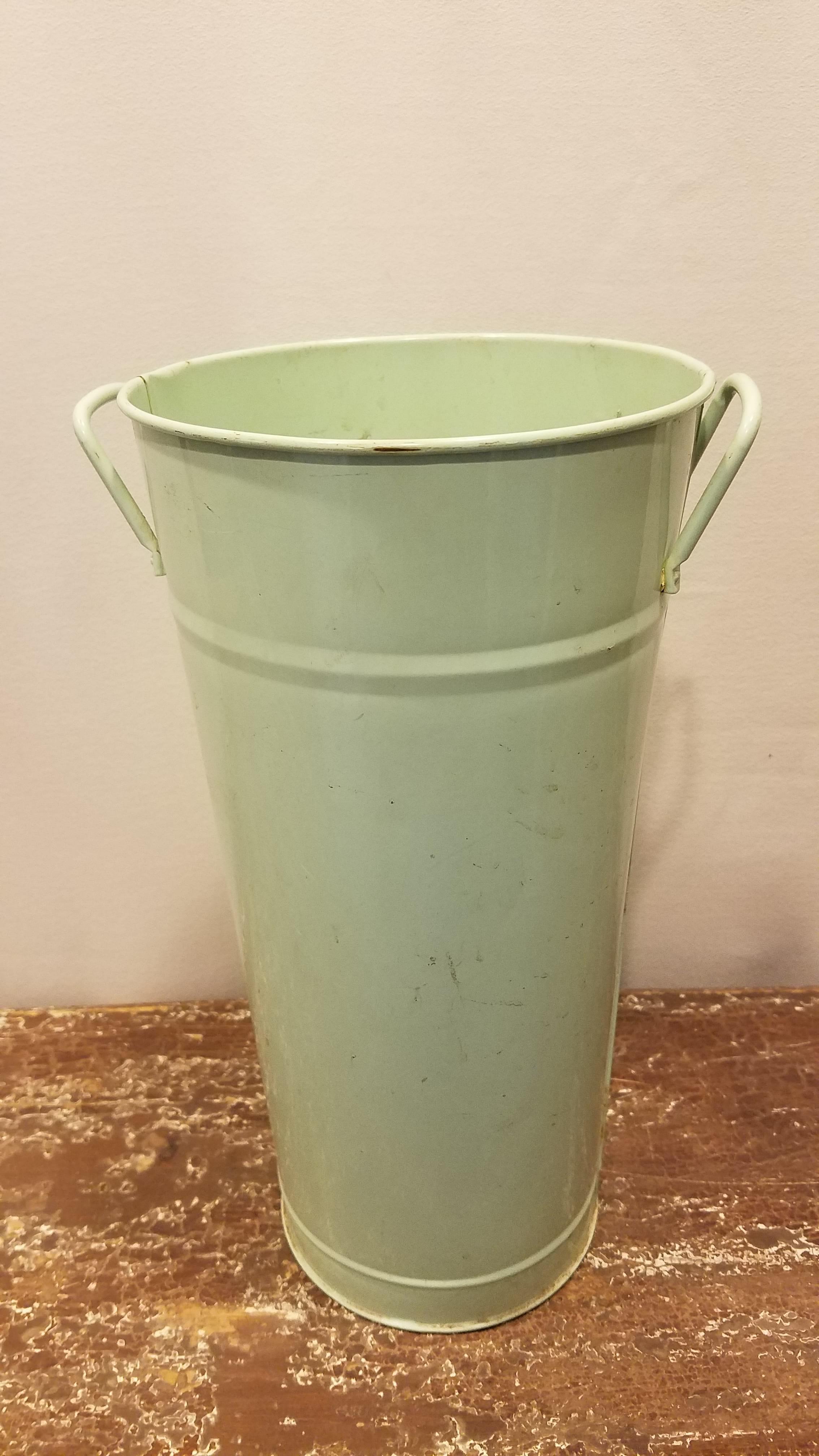 Bucket - Mint Tall w/Handles