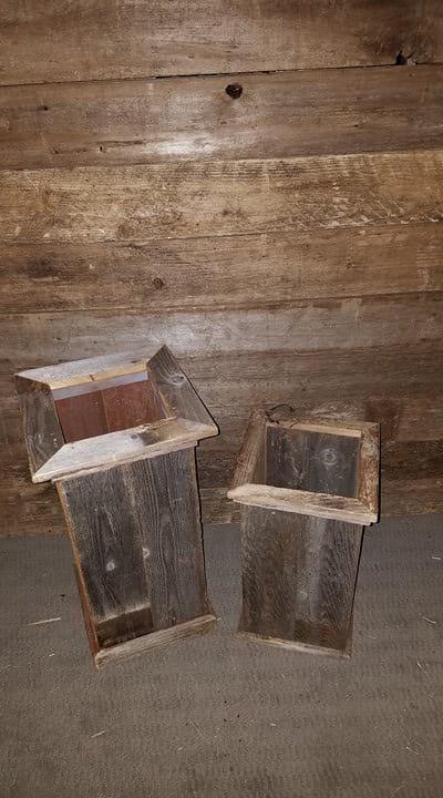 Box - Tall Planter Barn Wood