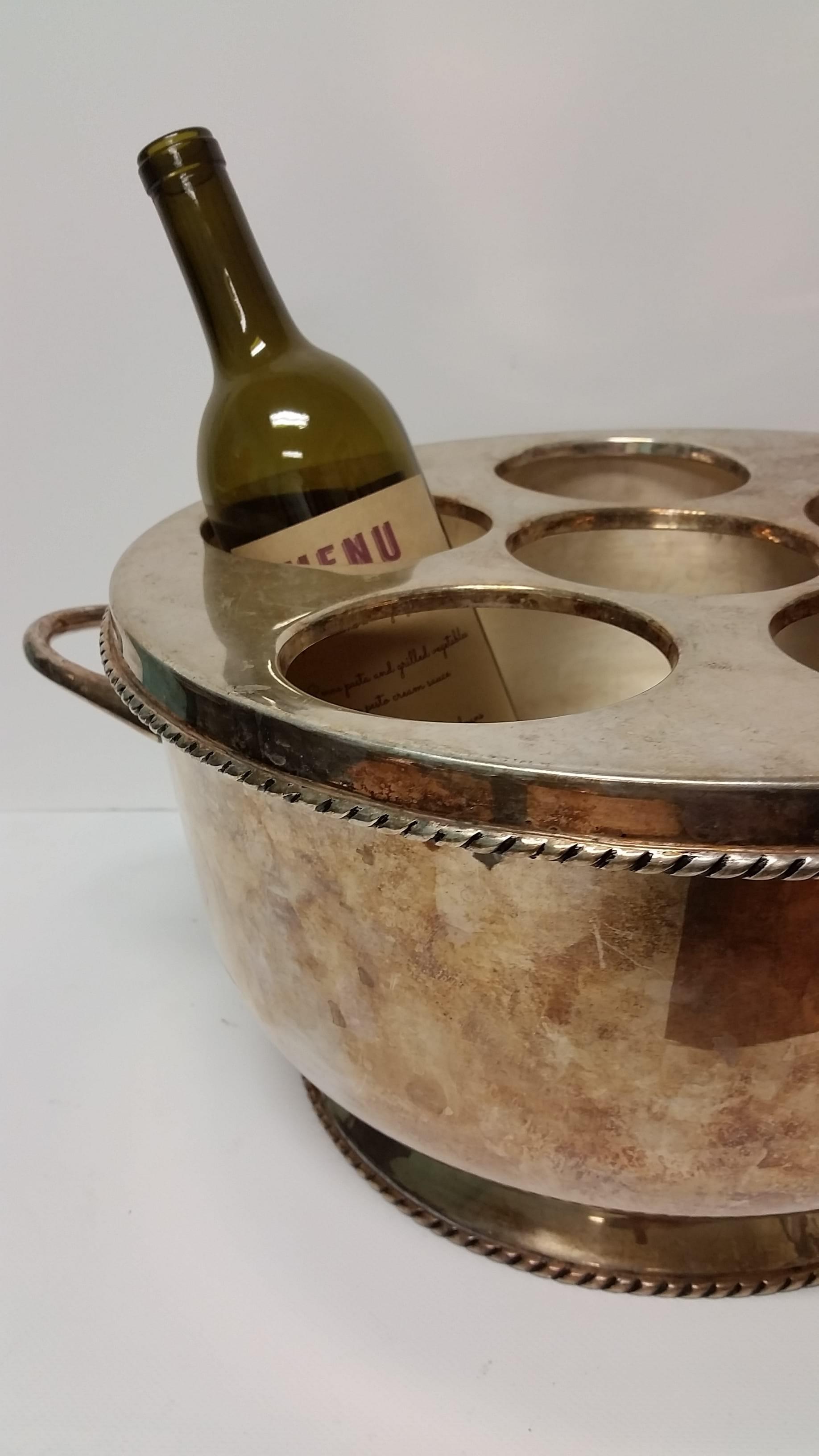 Bucket - Silver 6 Bottle Wine Cooler