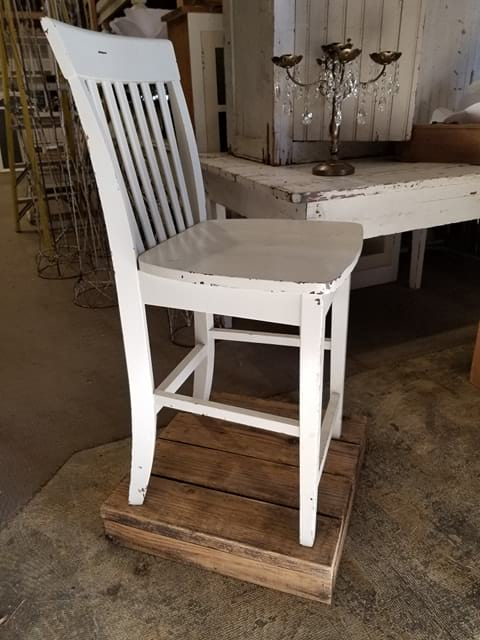Chair - Tall White Wood