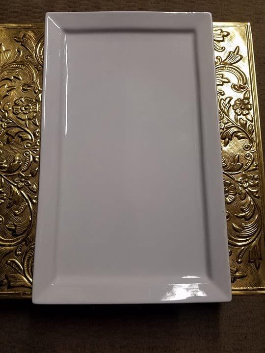 Platter - White Rectangle L
