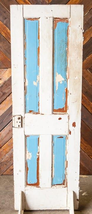 Door - White Solid Blue Panes