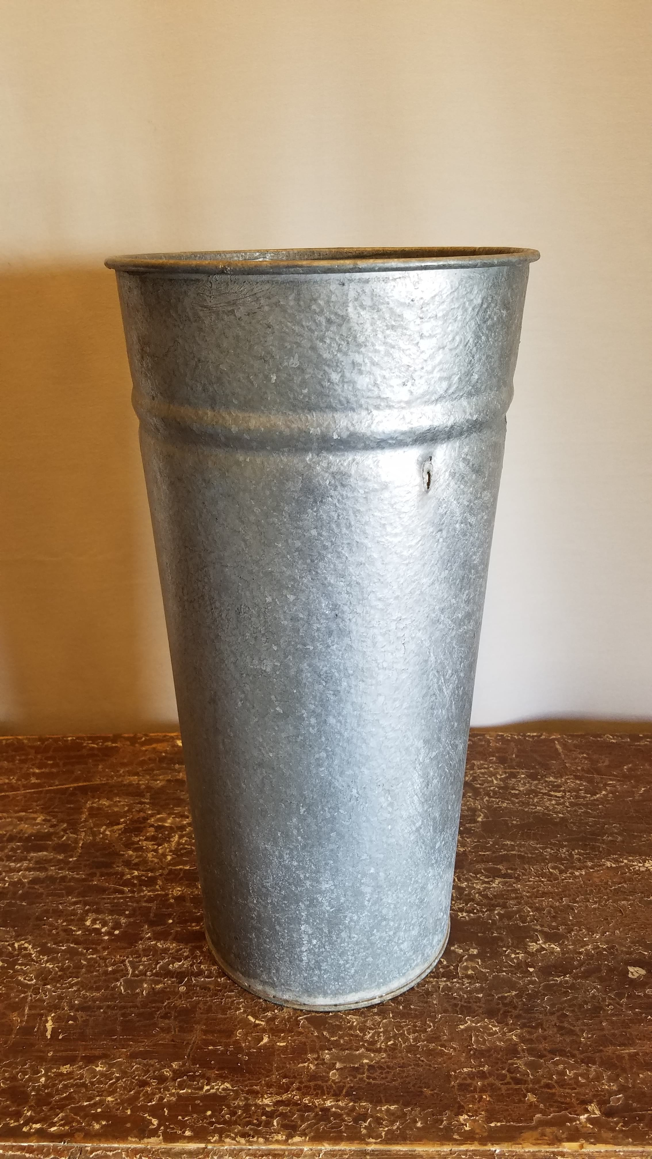 Bucket - Galvanized Hammered Tall Large