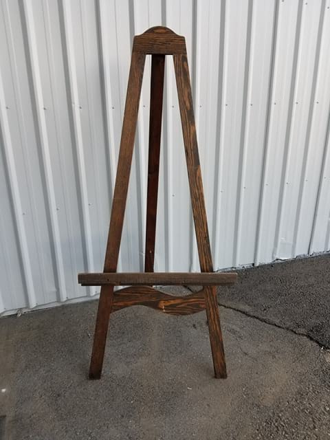 Easel - Dark Stained Wood